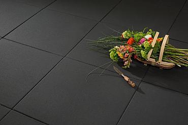 H2O comfort square 60x60x4 cm black