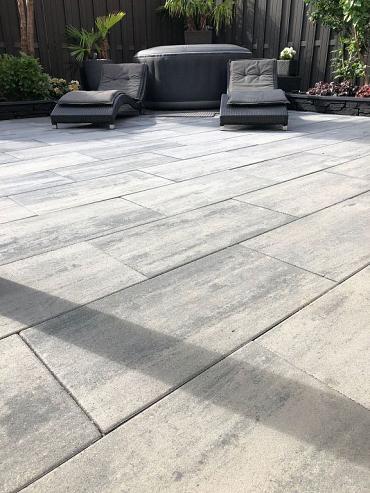 Patio square 40x80x5 cm nero/grey