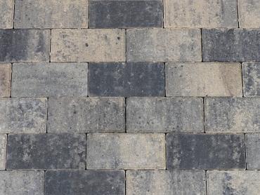 Betonstraatsteen 6 cm grijs/zwart komo