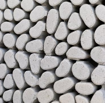Keigrassteen 45x45x10 cm grijs