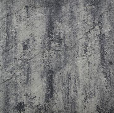 H2O reliëf square 60x60x5 cm nero/grey
