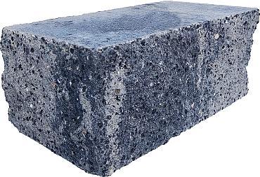 Splitrock hoekstuk 29x13x11 cm grijs/zwart geknipte kopse kant