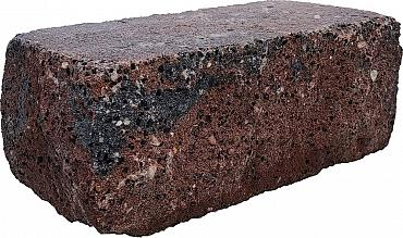 Splitrock hoekstuk trommel 29x13x11 cm bruin/zwart geknipte kopse kant