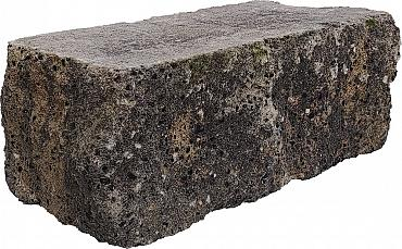 Splitrock hoekstuk trommel 29x13x11 cm grigio camello geknipte kopse kant