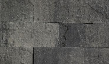 Pallatico muurblock reliëf 15x15x60 cm nero/grey