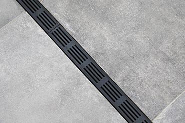 Aquadrain TEE Section 6,5 cm black grating
