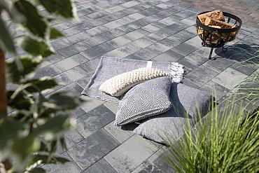 H2O comfort square 20x30x6 cm nero/grey