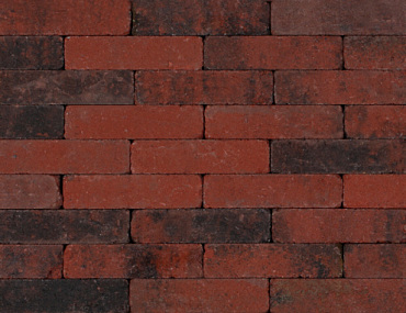 Trommel waalformaat 7 cm rood/zwart