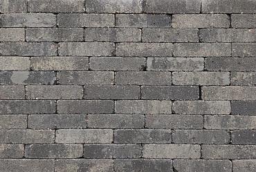 Trommel waalformaat 7 cm grijs/zwart