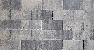 Design brick 6 cm nero/grey mini facet komo