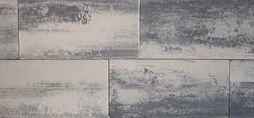 H2O square 40x80x5 cm nero/grey