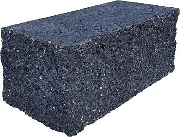 Splitrock hoekstuk 29x13x11 cm antraciet geknipte kopse kant