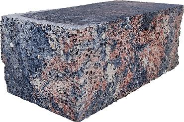 Splitrock hoekstuk 29x13x11 cm tricolore geknipte kopse kant