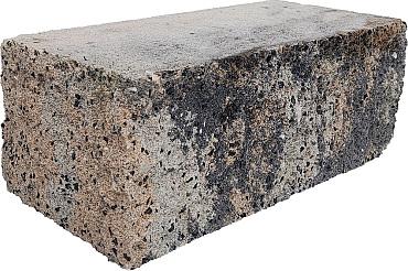 Splitrock hoekstuk 29x13x11 cm grigio camello geknipte kopse kant
