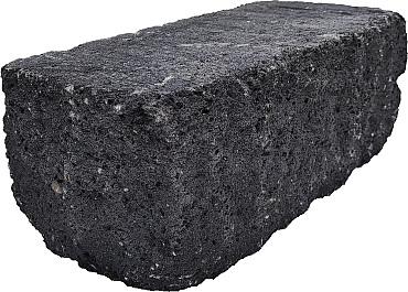 Splitrock hoekstuk trommel 29x13x11 cm antraciet geknipte kopse kant