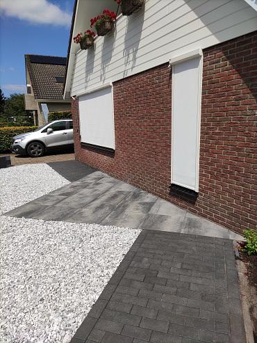 Nature top betonstraatsteen 8 cm black mini facet komo