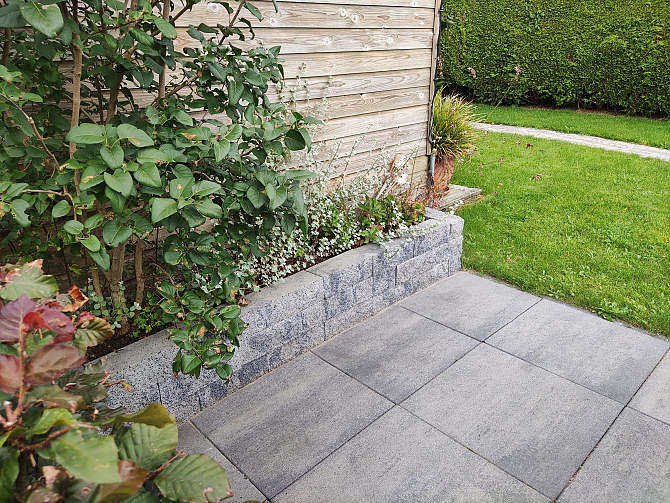 Splitrock 32x13x11 cm grijs/zwart