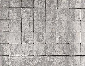 Betonstraatsteen half 6 cm grijs/zwart