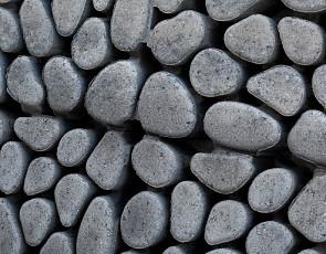 Keigrassteen 45x45x10 cm grijs/zwart