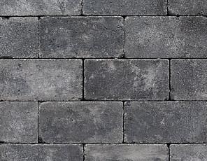 Antieke trommel betonstraatsteen 6 cm antraciet