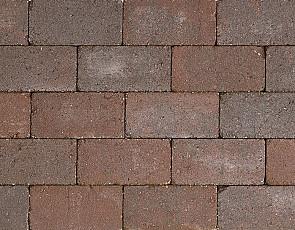 Antieke trommel betonstraatsteen 6 cm groningerbruin