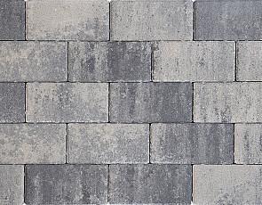 Design brick 8 cm nero/grey mini facet komo
