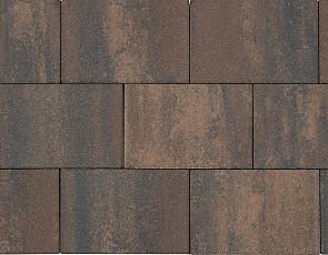 Patio square 20x30x6 cm marrone viola