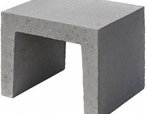 U-element 40x40x50 cm grijs
