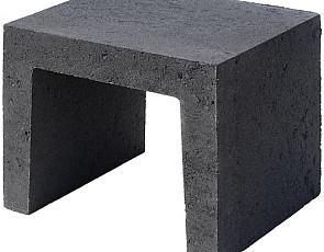 U-element 40x40x50 cm zwart