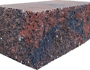 Splitrock hoekstuk 29x13x11 cm bruin/zwart geknipte kopse kant
