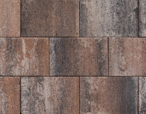 Patio square 20x30x6 cm tricolore