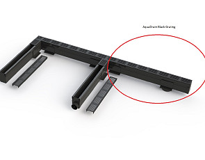 Aquadrain 100x10x6,5 cm black grating