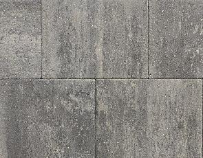 Straksteen 40x30x6 cm grijs/zwart
