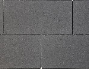 H2O square 60x30x5 cm black